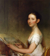 Stuart - Lydia Smith. c. 1808-1810. Oil on wood. 81.6 cm (32.13 in.) x 73.03 cm (28.75 in.). Private collection